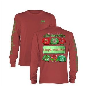 Simply southern tacky Christmas sweater top.